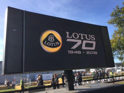 Reg & Bill @ Lotus Cars 70th Anniversary
